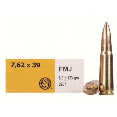 SB 7.62x39 FMJ 8g 123gr Box of 400
