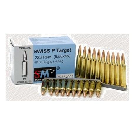 .223 Rem HPBT Swiss P Target 69gr / 4.5 g box of 50