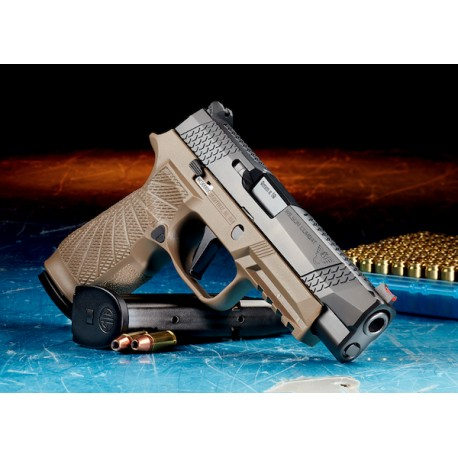 Wilson Combat/SIG Sauer P320 Full Size 9mm Tan Action Tune W/Straight Trigger