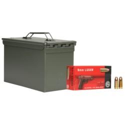 Geco 9 mm para, 124 grs, Box of 1000 pcs in NATO Box