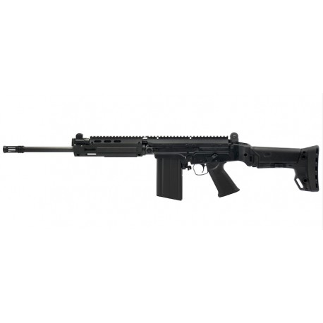 "DSA SA58 Improved Battle Carbine 16"" Fluted Tactical Barrel, BRS Folding Stock"