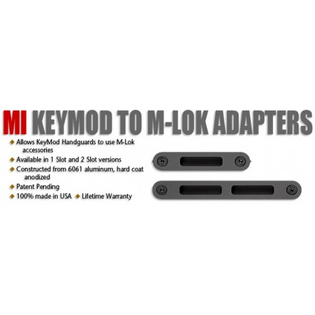 MI KeyMod to M-Lok Adapter, 1 slot M-Lok