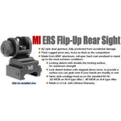 MI Low Profile Flip Front Sight, gas block mounted, locking