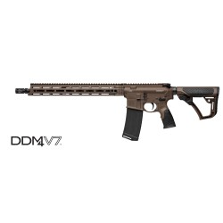 """Daniel Defense DDM4 V7 MilSpec 16"""" 5.56 NATO Brown"""
