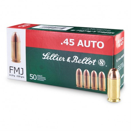 SB .45 ACP FMJ 230 grain pack of 50