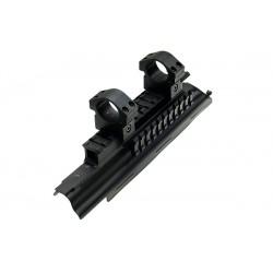 AK upper receiver with optic 3 rail. Fits all AK & AK 100 series Saiga