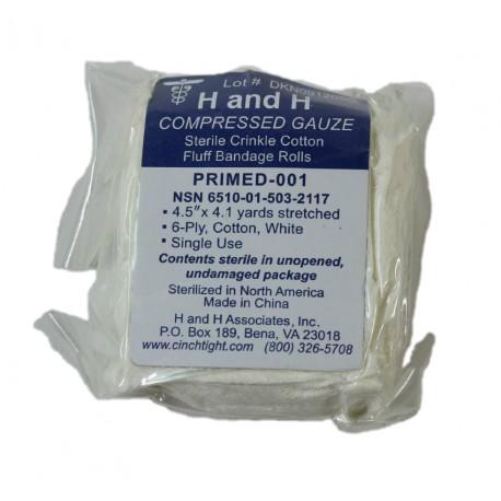 H&H Primed Compressed Gauze bandage 11,5cm X 40 meter