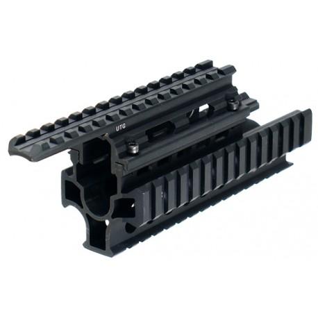 AK 2 piece Tactical Quad rails interlocking system