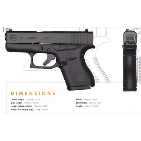 Glock 43 Cal. 9x19 Black Slim
