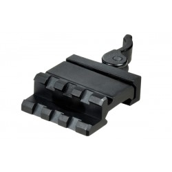 UTG LE Rated 3-Slot Single Rail Angle Mount w/Integral QD Lever Lock System