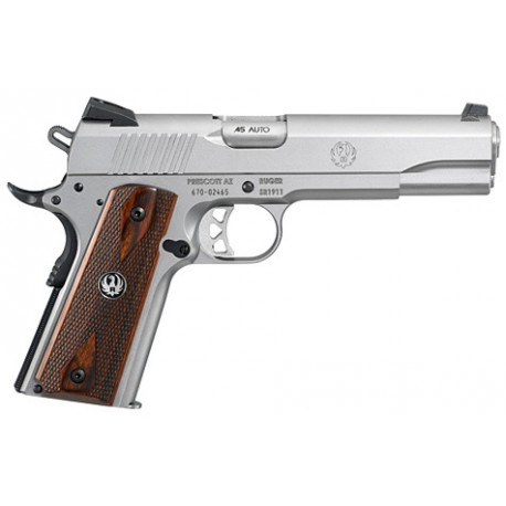 """Ruger Pistol SR1911 low glare stainless 5,5"""" cal. .45ACP"""