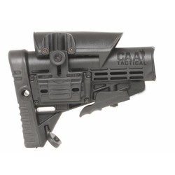 CAA Collapsible Butt Stock & Adjustable Cheek Rest. Polymer Made Olive Drab