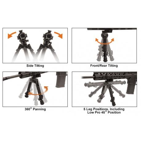 UTG Heavy Duty Recon 360 Bipod, Medium Ht: 17-23 cm