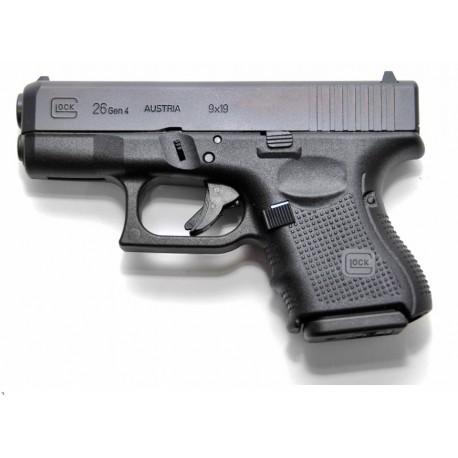 Glock 26 Gen4 9x19mm Black Sub Compact size