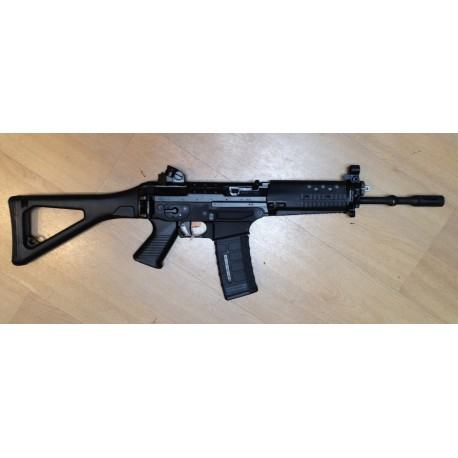 SIG 553-1 USA Long Barrel 347mm Alu lower Black mit Diopter semi auto