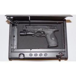 Coffre pour arme de poing Avec emprinte digitale et code