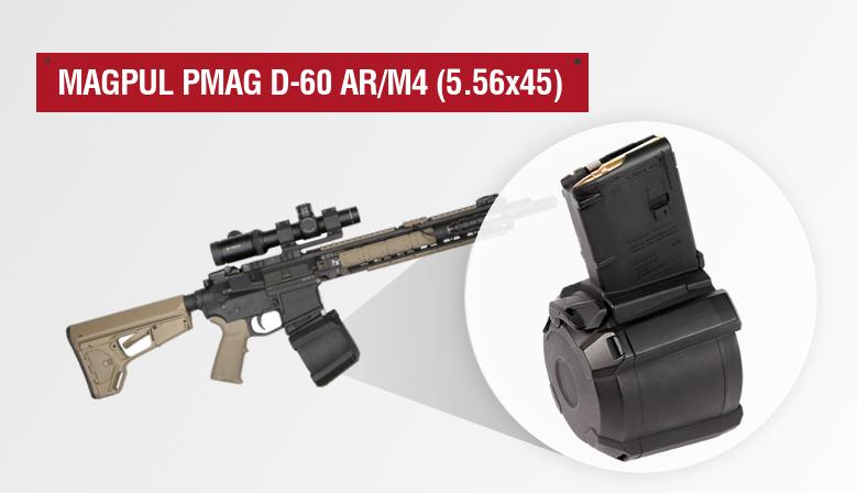 Magpul PMAG® D-60 AR/M4, 5.56x45