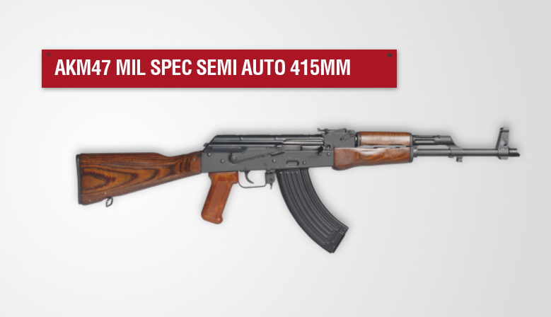 AKM47 Mil Spec semi auto 415mm