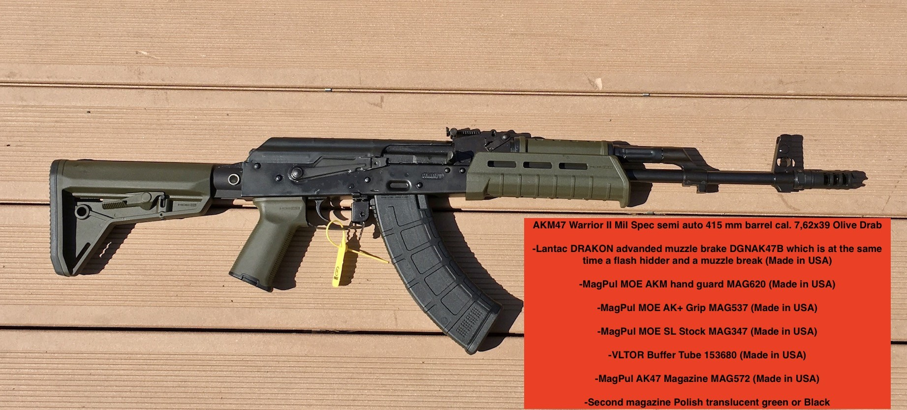 AKM47 Warrior II Olive Drab