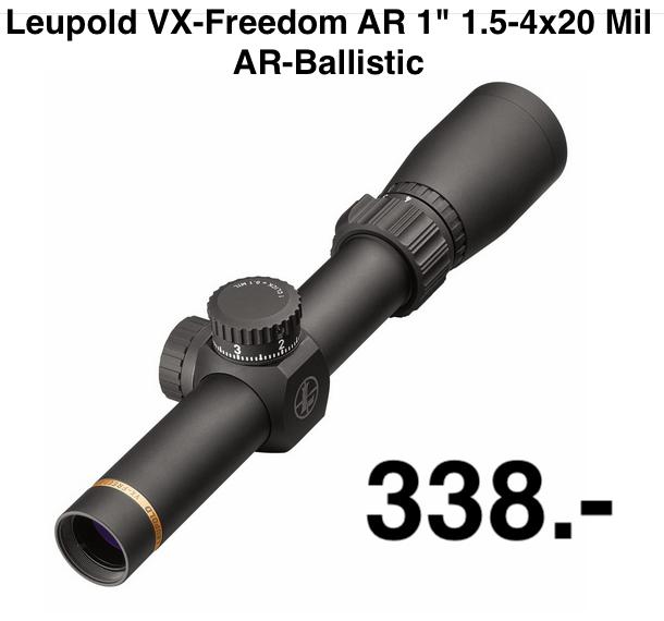 "Leupold VX-Freedom AR 1"" 1.5-4x20 Mil AR-Ballistic"